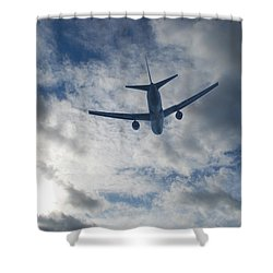 Airliner 01 Shower Curtain