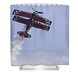 Airplane Performing Stunts At Airshow Photo Poster Print Shower Curtain by Keith Webber Jr