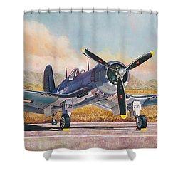 Airshow Corsair Shower Curtain