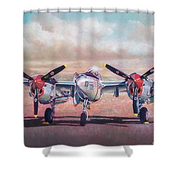 Airshow Lightning Shower Curtain