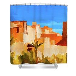 Ait Benhaddou Morocco Shower Curtain by Wally Hampton