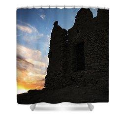 Ait Benhaddou Shower Curtain by Oliver Johnston