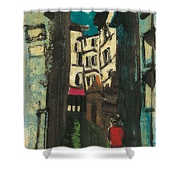 Shower Curtain featuring the painting Aix En Provence Street by Martin Stankewitz