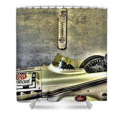 Aj Foyt 1961 Roadster Shower Curtain by Josh Williams