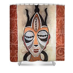 Aje Mask Shower Curtain