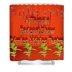 Ajiterapia Podcast Shower Curtain