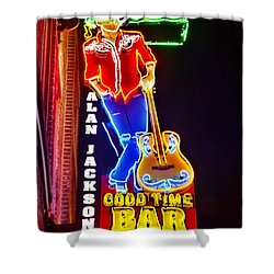 Aj's Good Time Bar Shower Curtain