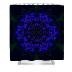 Shower Curtain featuring the digital art Akabala Lightmandala by Robert Thalmeier