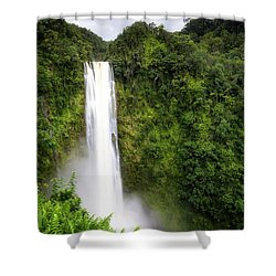 Shower Curtain featuring the photograph Akaka Falls by Ryan Manuel