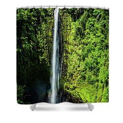 Akaka Falls With Rainbow Shower Curtain