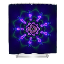 Shower Curtain featuring the digital art Akbal 9 Beats 3 by Robert Thalmeier