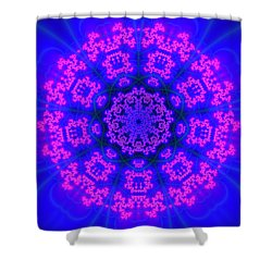 Shower Curtain featuring the digital art Akbal 9 Beats 4 by Robert Thalmeier