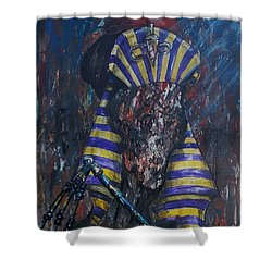 Shower Curtain featuring the painting Akhenaten Has Risen by Reed Novotny