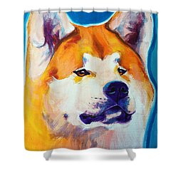 Akita - Apricot Shower Curtain by Alicia VanNoy Call