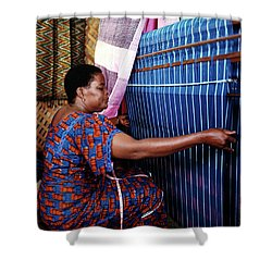 Akwete Weaving Shower Curtain