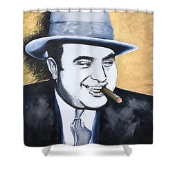 Al Capone Shower Curtain by Victor Minca