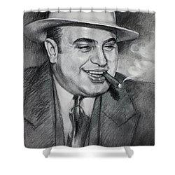 Al Capone  Shower Curtain by Ylli Haruni