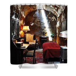 Al Capone's Cell - Eastern State Penitentiary Shower Curtain by Bill Cannon