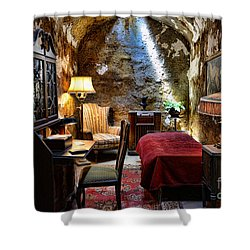 Al Capone's Cell - Scarface - Eastern State Penitentiary Shower Curtain by Paul Ward