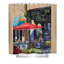 Al Fresco At The Celt Shower Curtain