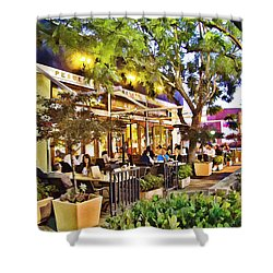 Shower Curtain featuring the photograph Al Fresco Dining by Chuck Staley