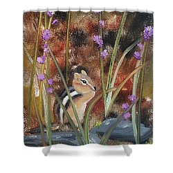 Shower Curtain featuring the painting Al Fresco Dining With A View by Judith Rhue