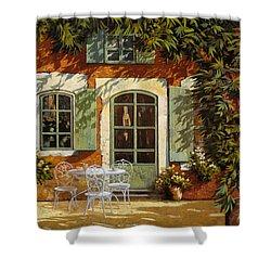 Al Fresco In Cortile Shower Curtain by Guido Borelli