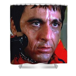 Al Pacino @ Scarface #1 Shower Curtain by Gabriel T Toro