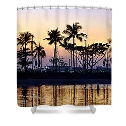 Ala Wai Harbor Shower Curtain by Gina Savage