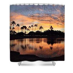 Ala Moana Sunset Shower Curtain by DJ Florek