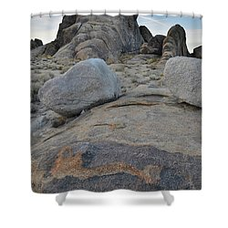 Alabama Hills Boulders At Dusk Shower Curtain