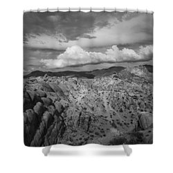 Alabama Hills Storm Shower Curtain