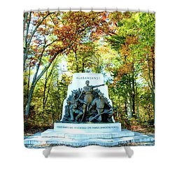 Alabama Monument At Gettysburg Shower Curtain