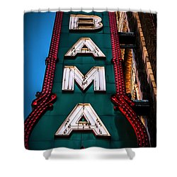 Alabama Theater Sign 1 Shower Curtain by Phillip Burrow