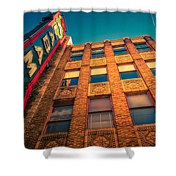 Alabama Theater Sign 2 Shower Curtain by Phillip Burrow