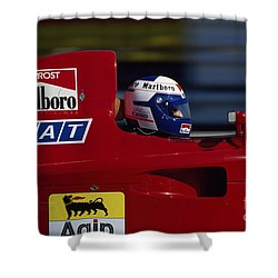Alain Prost. 1990 French Grand Prix Shower Curtain