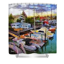 Alameda Life On The Estuary 2 Shower Curtain