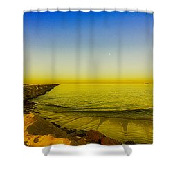 Shower Curtain featuring the photograph Alamitos Bay Morning  by Joseph Hollingsworth