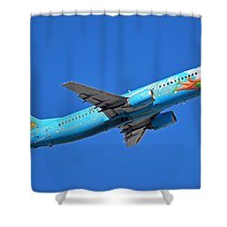 Alaska Boeing 737-490 N791as Tinker Bell Phoenix Sky Harbor January 12 2016 Shower Curtain by Brian Lockett