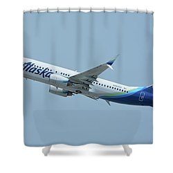 Alaska Boeing 737-890 N563as Los Angeles International Airport May 3 2016 Shower Curtain
