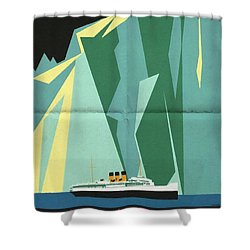 Alaska Canadian Pacific - Vintage Poster Folded Shower Curtain
