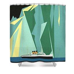 Alaska Canadian Pacific - Vintage Poster Restored Shower Curtain