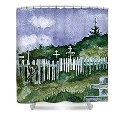 Alaska Graveyard  Shower Curtain by Brenda Owen
