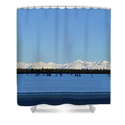 Alaska Highway Panorama Shower Curtain