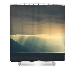 Alaska Inside Passage Under The Clouds Shower Curtain