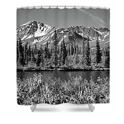 Shower Curtain featuring the photograph Alaska Mountains by Zawhaus Photography