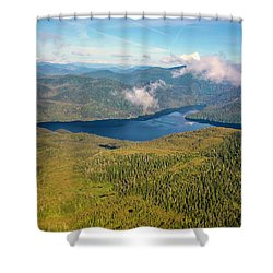 Shower Curtain featuring the photograph Alaska Overview by Madeline Ellis