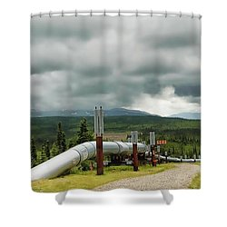 Alaska Pipeline Shower Curtain