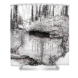 Alaska Pond Shower Curtain