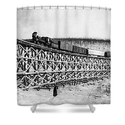Alaska: Railroad, 1916 Shower Curtain by Granger